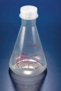 Erlenmeyer flasks, with PP screw cap, Azlon®
