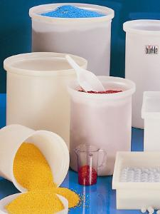 Tanks, cylindrical, with lid, LaboPlast®