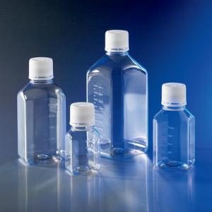 Bottles, narrow neck octagonal, with screw cap